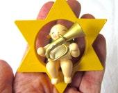 Erzgebirge Angel made in East Germany by Wendt & Kühn 1950s Star Christmas Decoration