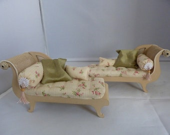 Regency cream chaise longue - two available.