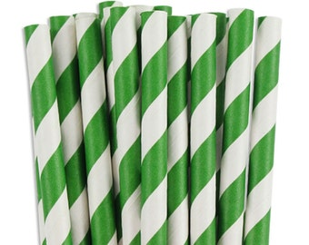 47 green Paper Straws Chevron Striped Retro Vintage Style Carnival Circus Wedding Birthday Bridal Baby Shower W/ Printable Flags