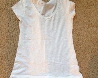 White t-shirt brand new with lace bottom large