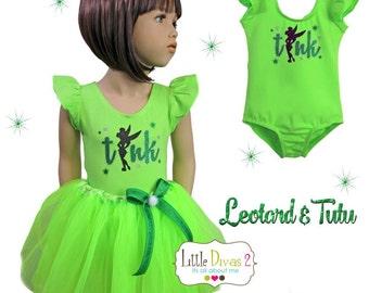 Tinkerbell (Lime Green) Leotard & Tutu...Costume dress up