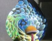 Boro Glass Sale Lampwork Pendant Mushroom Swirl Implosion Borosilicate Bead Collection