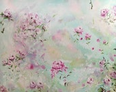 Whimsical Flowers on a 24x30 canvas