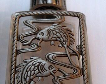 Vintage Bottle JJ Jonette Jewelry - goldfish koi- new old stock, unique gift, vintage glass perfume bottle JJ