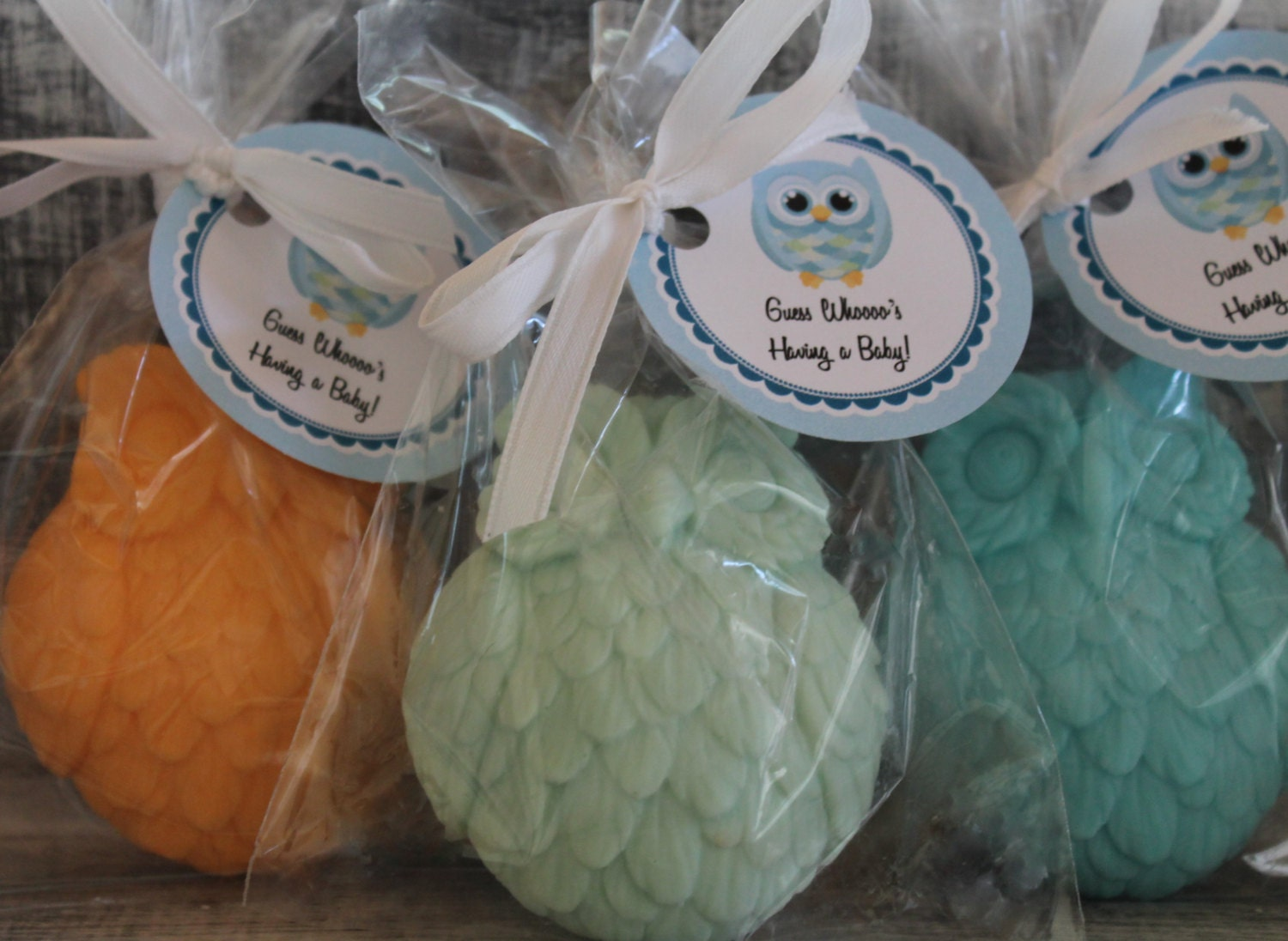 10 owl party favor soaps baby shower birthday favors