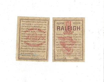 Vintage Raleigh Coupon, C1970s