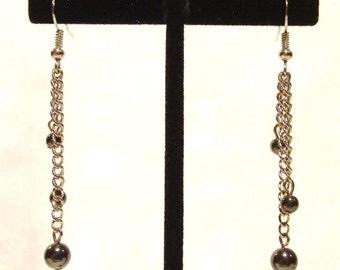 Black Dangling Drop Earrings