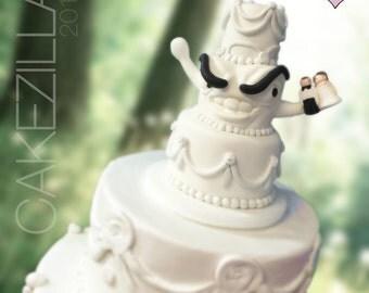 Custom Cakezilla - Offbeat Wedding Cake Topper