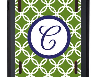 Monogrammed OTTERBOX iPad Defender Case for iPad2 * iPad3 * iPad4 * iPad Air * iPad Air2 in Circles - customizable colors and fonts