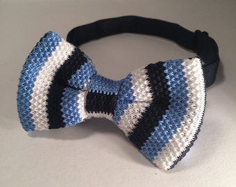 Hand crocheted bow tie