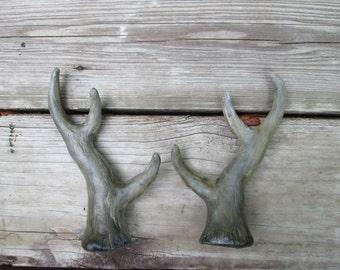 cosplay Antlers, hand painted, costume horns, pan, yearling, Satyr, deer, buck, three point, vegan antlers