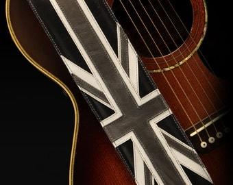 Vintage Guitar Strap, Great Britain Guitar Strap:  Union Jack Guitar Strap