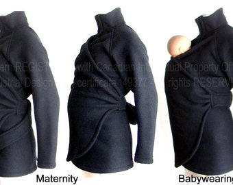 Maternity. Baby Clothes. Babywearing. Maternity Coat. Ergo. Sling. Fleece. Baby Sling, Wrap, Ergo. Carry  Coat. Baby Wearing Jacket. Poncho.