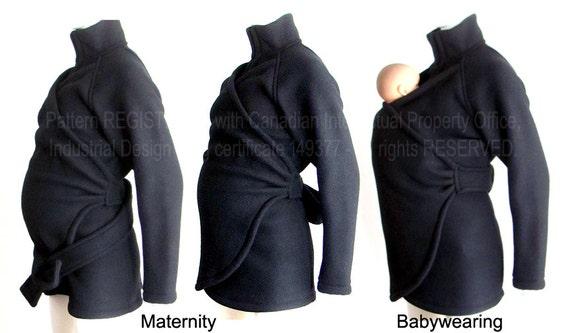 Maternity. Baby Clothes. Babywearing. SALE, Maternity Coat. Ergo. Sling. Fleece. Baby Sling, Wrap, Ergo. Carry  Coat. Baby Wearing Jacket