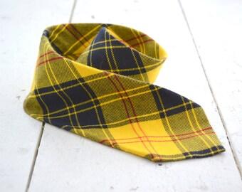 1960s Yellow Plaid Necktie
