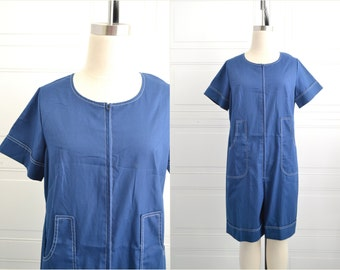 1970s Carolina Maid Navy Romper