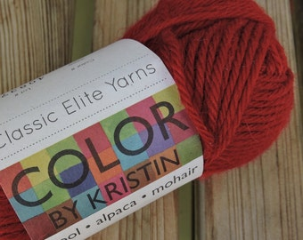 WORSTED Weight Yarn - #3258 - Wool Alpaca Mohair -  Classic Elite Yarns Color by Kristin - 50 g 93 yards