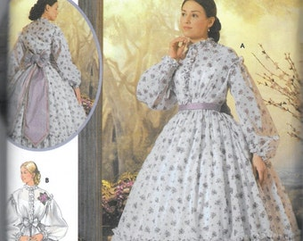 Simplicity 5442 Southern Belle Dress Pattern Costume Historian Civil War Gone With The Wind Scarlett Hoop Dress