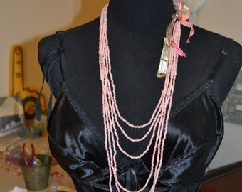 Bohemian Rice Pearls Paris Chic Necklace Beaded Long Necklace