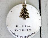 Engagement Ornament - Personalized Engagement Ornament -Wedding Ornaments - Personalized Christmas Gift - Christmas Wedding - Christmas Gift