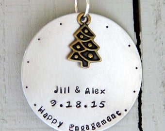 Engagement Ornament - Personalized Engagement Ornament -Wedding Ornaments - Personalized Christmas Gift - Christmas Wedding - Christmas Gift