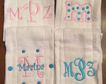 Monogram Burp Cloth Set of 4