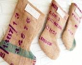 Family Christmas Stockings Burlap Personalized - Rustic Modern Farmhouse Christmas Stockings