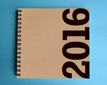 2016 Weekly Planner - SMALL 14cm/5.5in Square