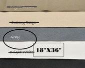Non Slip Fabric - ToughTek Fabric - Neoprene - Waterproof - Standard Gray ToughTek - Grip Fabric - 18 X 36