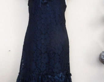 "20%OFF formal bohemian vintage gothic lace dress.....small to firm 36"" bust...."