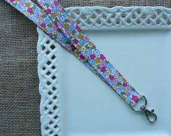 Fabric Lanyard - Flowers All Over
