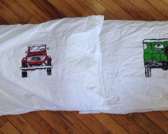 Sweet dreams! FJ40 40 series Land Cruiser pillow cases standard size pair