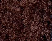 Lucious Curly Brown Alpaca Faux Fur