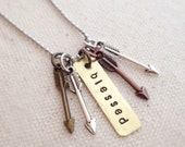 Blessed Mama Psalm 127:3-5 Arrow Necklace