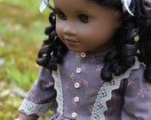 FREE SHIPPING - A Nice Historical Dress -fit dolls like the 18 Inch American Girl Doll Cecile, Addy or Marie-Grace