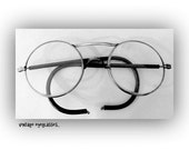 Vintage AO Co Steel Safety Eyeglasses +Metal Case-Industrial -STEAMPUNK