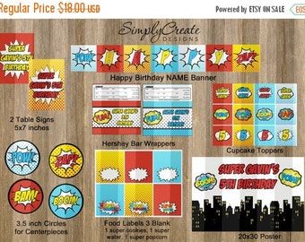 SALE Superhero Party Package Printable DIGITAL Party