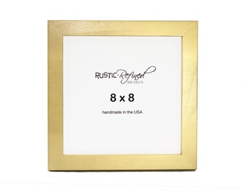 "8x8 Gallery 1"" picture frame - Gold"