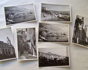 Vintage Monte Carlo French Casino France Black and White Photos 1937 Original Photographs World Tour