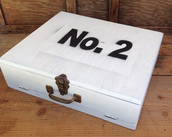 Vintage Hinged Lid Box - Number 2 Box