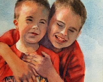 Original watercolor portraits