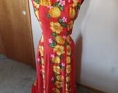 Vintage Hawaiian Full length Gown Pake Muu Size XL! 40 bust