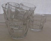 Vintage Punch Cups, Clear Glass, Heisey Coarse Rib Cups, 7 Pieces