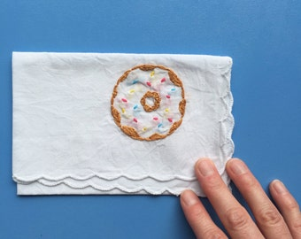 Hand Stitched Donut Embroidery Food Embroidery Donut Gift