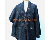 Asymmetric grey boiled wool  lapelcoat reserved to Jan Burgess