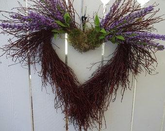 Heart Wreath  Huck Twig Wreath  Heart Twig Wreath  Wedding Wreath  Home Decor  Twig Wreath  Floral Wreath  Natural Wreath