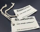 1000 canvas hang tags, fabric hang tags, cotton hang tags, Custom Linen Canvas Hang Tags