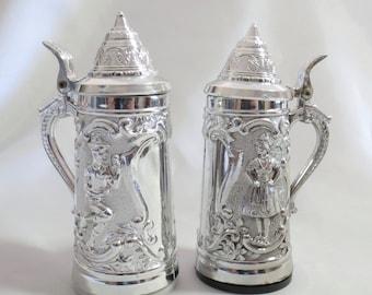 Vintage German Beer Stein Novelty Salt and Pepper Shakers