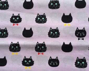 SALE Japanese cotton fabric Cat printed 100cm x 160cm