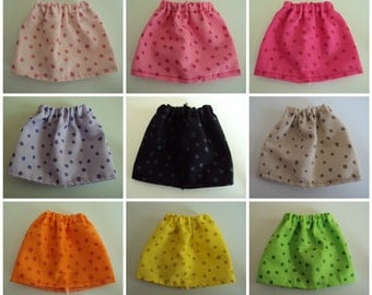 "Glitter Dot Skirt for Barbie Dolls ~ Clothes for 11 1/2"" Fashion Dolls"